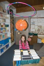 solar system shadow box project | Fourth graders design the solar system