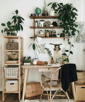 Home Decor Ideas Bathroom Cute Earthy Home Office Vibes with a Selection of Z … – Plants