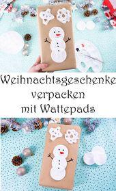 Pack Weihnachtsgeschenke: 6 tolle Ideen   – ♥ Basteln mit Kindern – geniale Ideen ♥