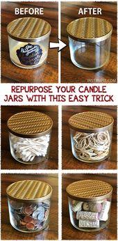 Setzen Sie Ihre Kerzengläser mit diesem einfachen Trick wieder ein