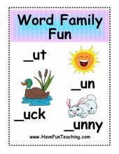 Ressourcen | Phonics | Wortfamilien | Aktivitäten – Teaching Phonatics