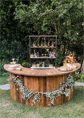 Über 30 schicke Hochzeitsempfangsideen für eine großartige Hochzeit   – Sommerhochzeit, Hochzeit auf der Wiese
