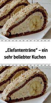 """""""Elefantenträne"""" – ein sehr beliebter Kuchen – Lecker Backen"""