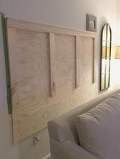 DIY Kopfteil für das Sofa   – Ana white