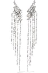 Suzanne Kalan – 18-karat white gold diamond earrings