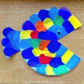 Pappteller-Seidenpapier-Fisch-Handwerk – Crafty Morgen