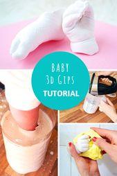 DIY 3D Babyabdruck mit Gips selber machen