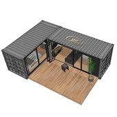 Source modular 40ft sea container house,customized ocean container house free de