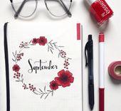 Bullet Journal Header Layout Inspirations