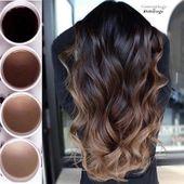 Balayage #Beauté #Brunettes #Couleur #Mode #Cheveux #Idées