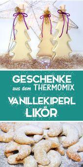 Vanillekipferl Likör – Ein leckerer Weihnachtslikör. Thermomix Rezept.