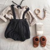 Für später aufheben: das süßeste Outfit für Mädchen, Vintage-Strampler aus Leder – Kids Ideas   – life