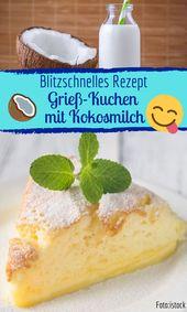 Wunderbarer Grieß-Kokos-Kuchen