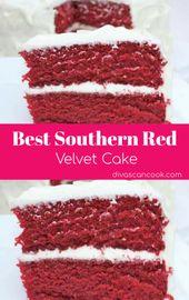La MEJOR receta de pastel de terciopelo rojo. Fácil. Húmedo. hecho en casa   – Food.~