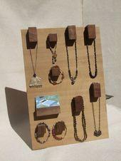 Rohe Holz Schmuck Display Hanger – moderne Haken für Ketten und Armbänder