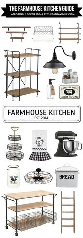 Kitchen Farmhouse Decor – Affordable Ideas – The 36th AVENUE