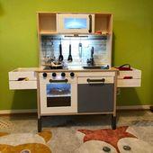 Zu wenig Ablage Fläche n der Kinderküche? Wohin mit den ganzen Töpfen, Pfanne …  – Kinderküche DIY