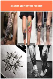 Calf Side Leg Tattoo Ideas – Best Leg Tattoos For Men: Cool Lower, Upper, Side L… – encas-sains