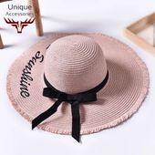 Handmade Weave Hello Sunshine Sun Hat – Hats & Beanies