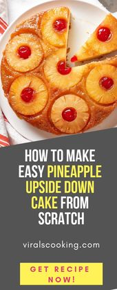 How To Make Easy Pineapple Upside Down Cake from Scratch  – Quick and easy recipes