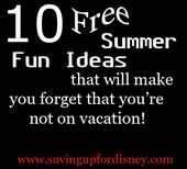 Family Friendly Summer Staycation Ideas – Frugal Living & Frugal Living Ideas