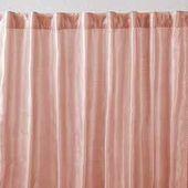 2 Panel PEACH Faux SILK Curtain – Window Treatment