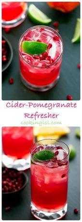 Apfelwein-Granatapfel-Wunderkerze-alkoholfrei   – Beverage Recipes