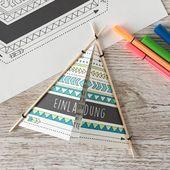 Baby Cards Indianerparty-Ideen: Alles auf einen Blick - juhubelbox.de