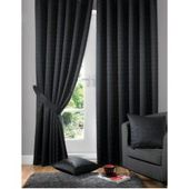 Curtain set Tottenham with curling ribbon, darkeningWayfair.de
