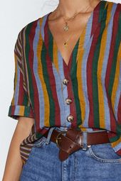 Yeah Stripe Relaxed Shirt   Shop Clothes at Nasty Gal You must be joking. The Ye…