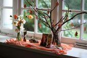 Der Herbst Natur Tisch   – Herbst