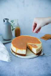 New York Cheesecake with Salted Caramel