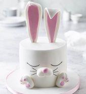 Pastel de conejo blanco | Lo hace sin problemas … A veces los efectos de aspecto más simple …