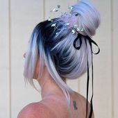 Galactic Blue Buntes Haar Für Langes Haar, 30+ Atemberaubende Bunte Haarfarbe ... #atemberaubende #bunte #buntes #galactic #haarf