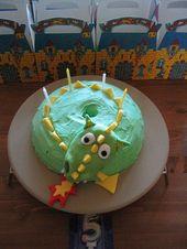Drachenkuchen zum Kindergeburtstag. Motto: Ritterfest, Mittelalterfest   – Essen