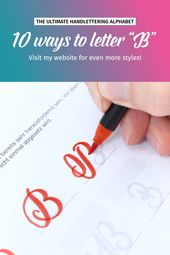 """10 Möglichkeiten, """"B"""" zu schreiben   Brushlettering"""