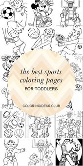 The Best Sports Coloring Pages for toddlers