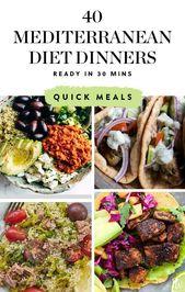 40 mediterrane Abendessen, die Sie in maximal 30 Minuten zubereiten können