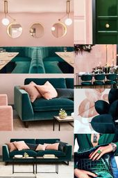 Party || Emerald Green & Rose Pink Farbschema || N…