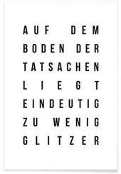 Sabrinas Glitzer – JUNIQE – Premium Poster   – **Wohnen**