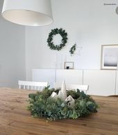 Winter Vibes! In diesem wunderschönen Esszimmer im modernen skandinavischen Loo…