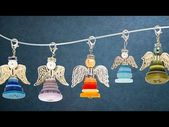 Ideas with a heart – pearl angels with colorful buttons – tinker jewelry pendants – … – Nadine Blog