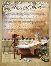 Livre de bain magique des ombres épeler pages par steelgoddess sur Etsy   – Witchcraft