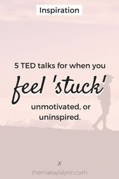 "5 Inspiring TED Talks For When You Really feel ""Caught"""