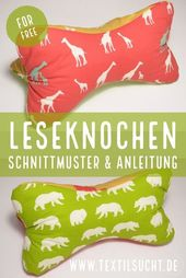 Tutorial & free sewing pattern: sewing neck pillows