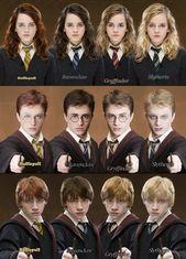 Komisch, dass Slytherin Harry wie Voldemort aussieht. Komisch, dass Hufflepuff R…