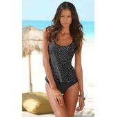 Große Größen: s.Oliver Red Label Beachwear Bügel-Tankini im Retrodesign, braun, Gr.54E s.Olivers.Oli