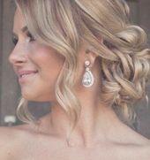 Cool blonde wedding hairstyle