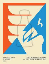 2012 Stanley Cup Playoffs: Philadelphia Flyers gegen Pittsburgh Penguins   – Graphic Design // Typography // Illustration