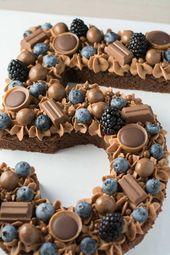 Talk Cake mit Heidelbeeren und Schokolade – Kuchen